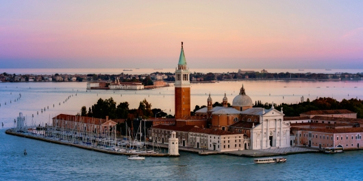Venice Italy Harbor Sunset from the Gallery collection by Alex McClure