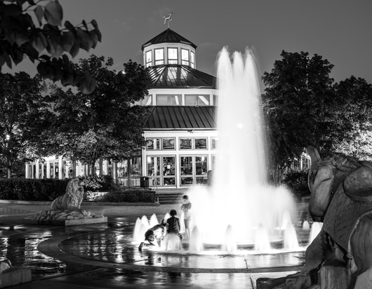 Coolidge Park Fountains from the Downtown Chattanooga collection by Jeremy Screws