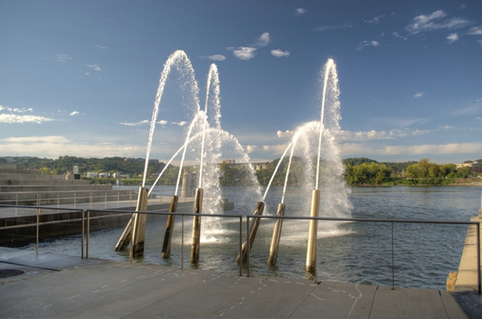 Ross Landing Fountains from the Downtown Chattanooga collection by Jeremy Screws