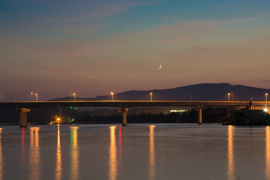 Olgiati Bridge at Sunset from the Downtown Chattanooga collection by Jeremy Screws