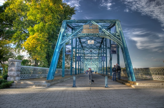 Walnut Street Bridge Entrance from the Downtown Chattanooga collection by Jeremy Screws
