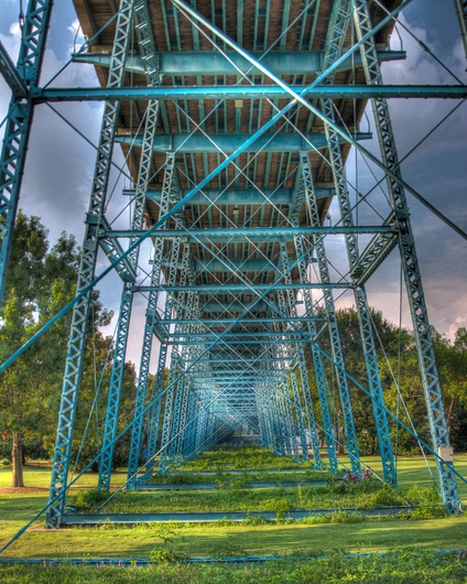 Coolidge Park under Bridge 2 from the Downtown Chattanooga collection by Jeremy Screws