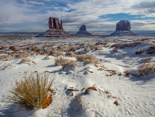 Monument Valley in Snow, Arizona Desert from the Gallery collection by Alex McClure