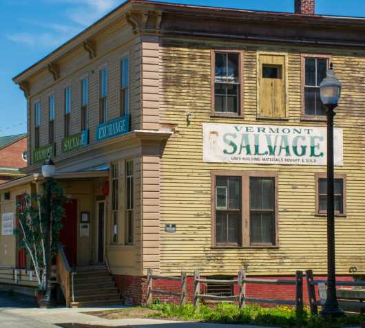 Vermont Salvage Building from the White River Junction collection by jndphoto