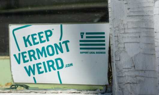 Vermont Weird bumper sticker from the White River Junction collection by jndphoto