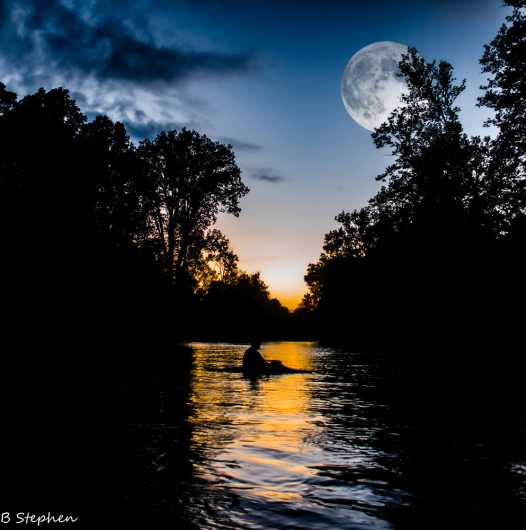 Twilight on the river from the moon collection by BRUCE STEPHEN