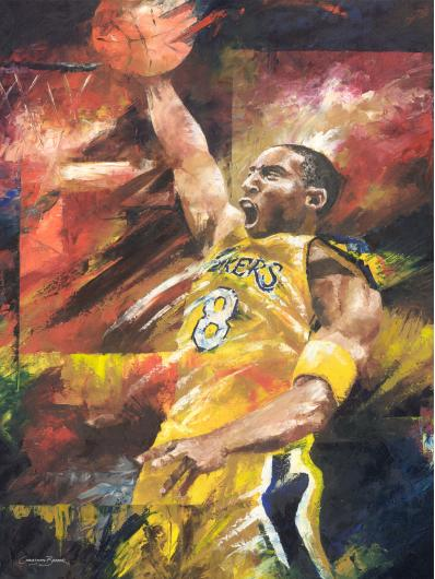 Kobe Bryant Art Print from the Sports collection by Christiaan Bekker