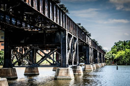 Melbourne Train Bridge from the DSN Fundraiser collection by Alan Ignatowski