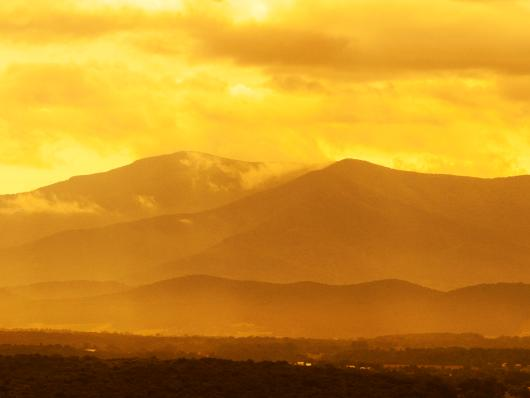 Golden Mountains from the Pro Seller Album collection by Sonny Banks Photography