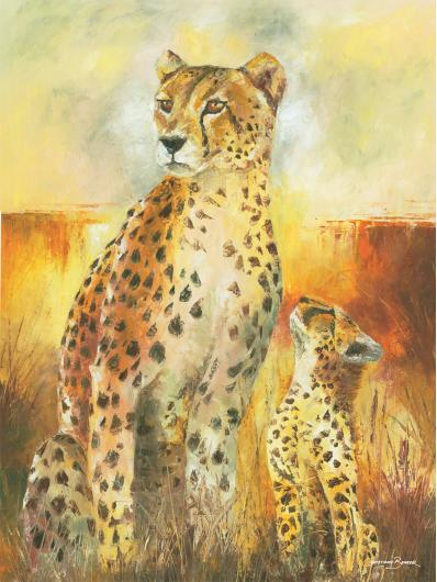 Cheetah Cubs Art Prints from the Wildlife collection by Christiaan Bekker