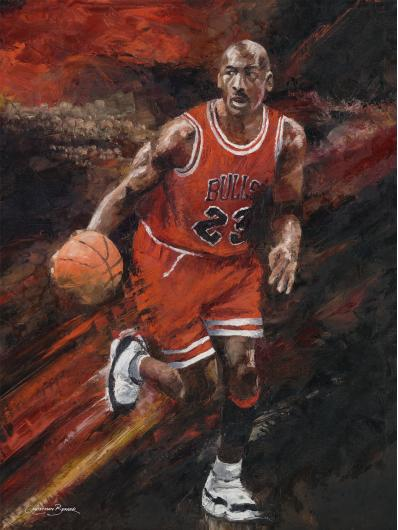 Michael Jordan Art Prints from the Sports collection by Christiaan Bekker