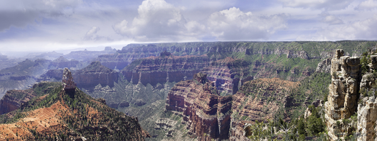 Grand Canyon in Green Pano from the Desert Panoramas collection by Lou Oates
