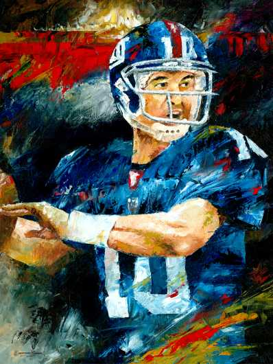 Eli Manning Art Prints from the Sports collection by Christiaan Bekker