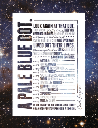 A Pale Blue Dot from the Doodles, Patterns, & Typographic Prints collection by Doodle Design by Caitlin Barnes