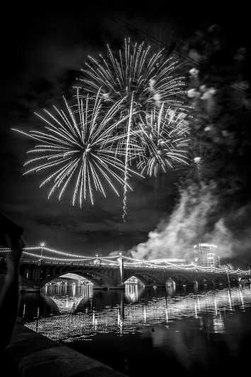 Fireworks from the Black and White collection by Rachel Houghton