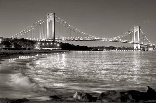 verrazano_bridge_bw_hdr_20110630.jpg from the Verrazano Bridge Collection collection by Albert Liguori III