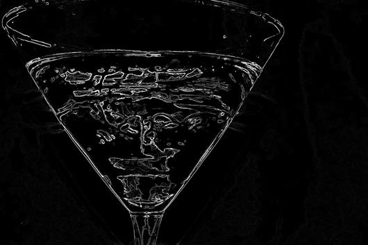 Inverted Madness from the Martini Glass collection by Jessica Bach