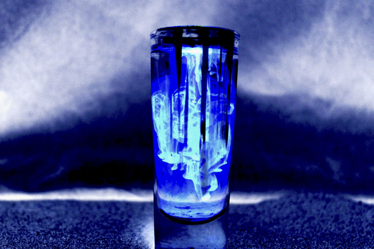 Blue Flame from the Tall Glass collection by Jessica Bach