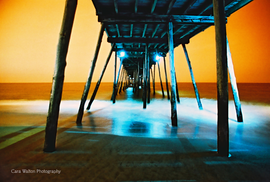 Avalon Fishing Pier LomoChrome Turquoise 35mm from the The Outer Banks of North Carolina collection by Cara Walton