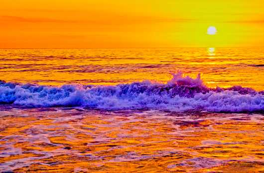 Atomic Sunset from the The Outer Banks of North Carolina collection by Cara Walton