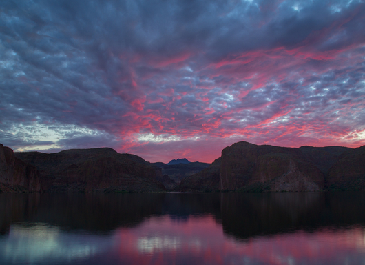 Canyon Lake Sunrise from the Landscapes collection by Richard Milligan