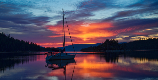 Emerald Bay Sunrise from the Landscapes collection by Richard Milligan