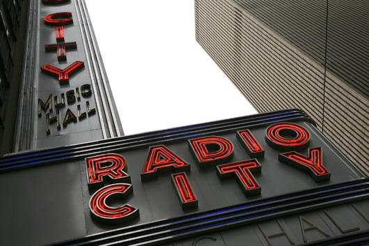 Radio City Music Hall Sign from the New York City collection by Art4Artists