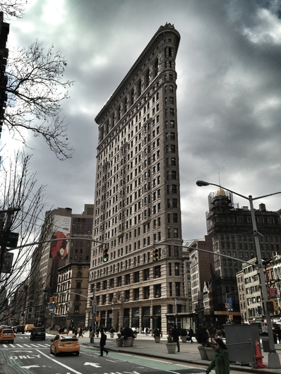 Flatiron Building Gray Day from the New York City collection by Art4Artists