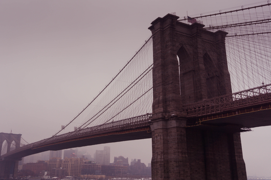 Brooklyn Bridge Cloaked in Fog from the New York City collection by Art4Artists