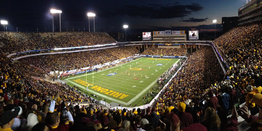 ASU Sun Devil Stadium PAC12 Championship Game from the Phoenix Metro collection by Art4Artists