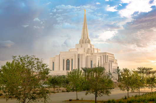LDS Temple Gilbert Arizona from the Temples and Churches collection by Art4Artists