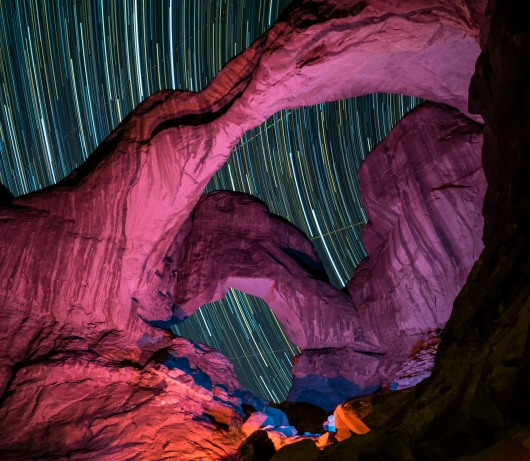 Natural Land Bridge with Night Stars from the Gallery collection by Alex McClure