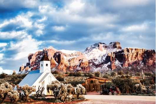 Snow on the Superstitions from the Desert collection by Alan Ignatowski