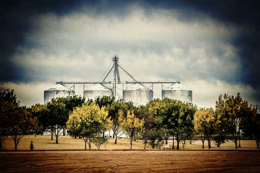 Gilbert Grain Silos from the Rural Life collection by Alan Ignatowski