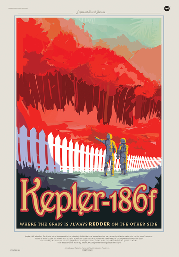 KEPLER-186f from NASA JPL Poster Series from the NASA JPL collection by Art4Artists