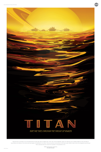 TITAN from NASA JPL Poster Series from the NASA JPL collection by Art4Artists