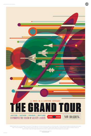 THE GRAND TOUR from NASA JPL Poster Series from the NASA JPL collection by Art4Artists