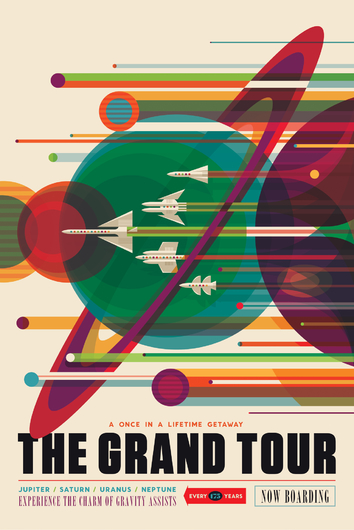 THE GRAND TOUR cropped from NASA Poster Series from the NASA JPL collection by Art4Artists