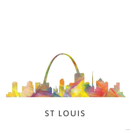 st_louis_miss_wb-1_square.jpg from the U.S. Skylines collection by Marlene Watson Art