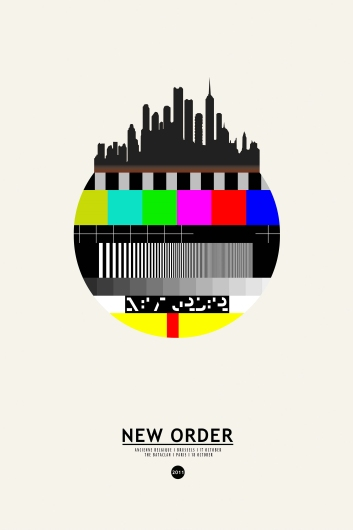 New Order at The Bataclan from the Astropixel NYC collection by MyHouseCulture.com