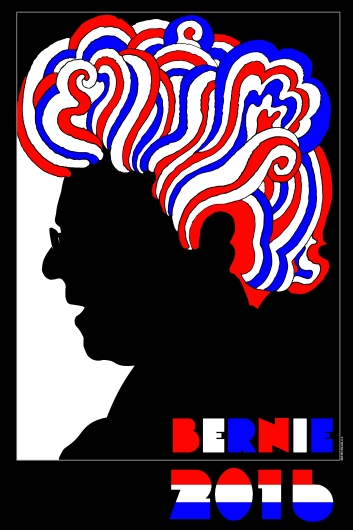 Bernie Sanders Glazer Poster from the Astropixel NYC collection by MyHouseCulture.com