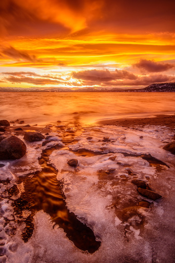 """Fire & Ice"" from the The Landscapes collection by Chris Couture Photography"