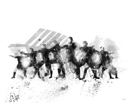 The Haka from the U.S. Skylines collection by Marlene Watson Art