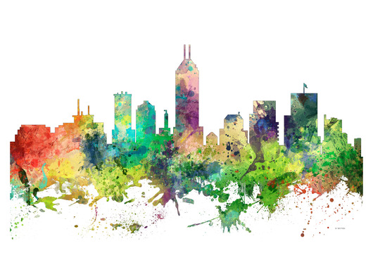 indiana_spring_26x38.jpg from the U.S. Skylines collection by Marlene Watson Art