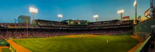 Fenway Park Outfield Panorama from the Panoramas collection by TJ Walsh Photography