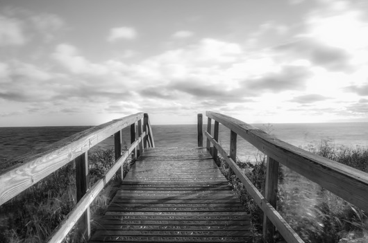 Boardwalk Black and White from the Black and White collection by TJ Walsh Photography