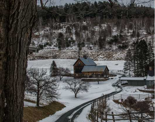Woodstock Farm Winter scene 1 from the Landscapes collection by TJ Walsh Photography