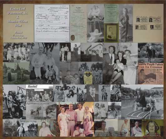 Les Prestwood+Bernice Flint Family Collage from the Family History by Mike Prestwood collection by Mike Prestwood