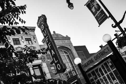Buffalo Theatre District in Black& White. Summer in Buffalo Series.  from the Gallery Selection: July 2016 collection by clear. photography