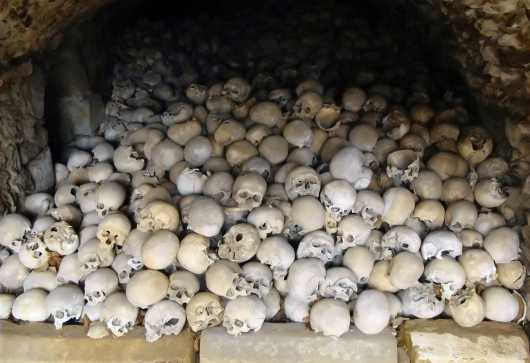 Graveyard Ossuary In A Small Bavarian Town #1 - Germany from the Halloween / German Fairy-Tales collection by Martin Tobias